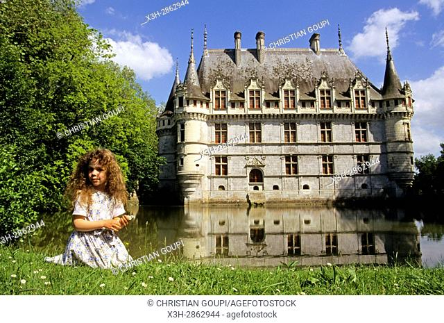 Chateau d'Azay-le-Rideau, Indre-et-Loire department, Centre region, France, Europe