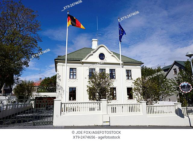 german ambassadors house in reykjavik iceland