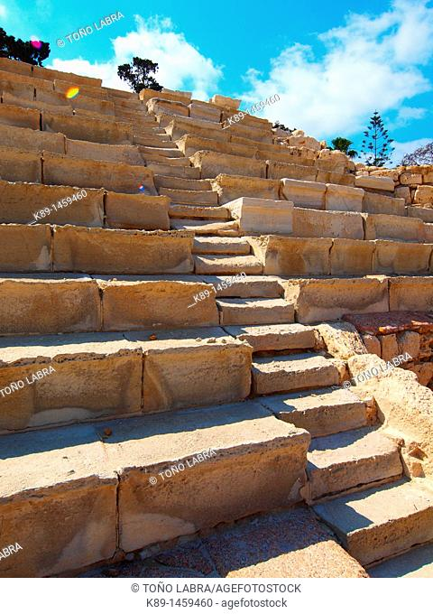 Stairs, Anphitheater ptolemaic, Alexandria, Egypt