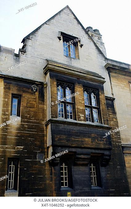 Windows in Balliol College Oxford on Magdalen street East