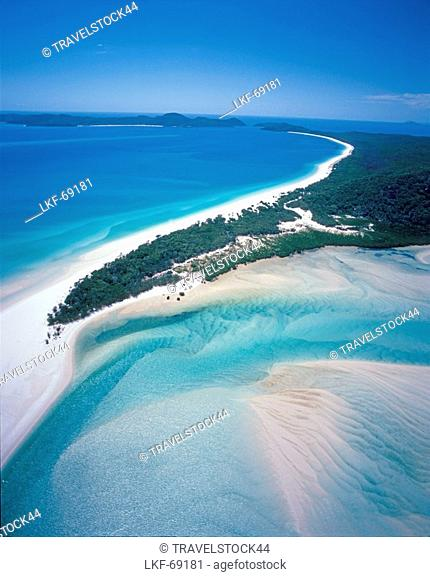 Aerial view, Whitsunday Islands, Queensland, Australia