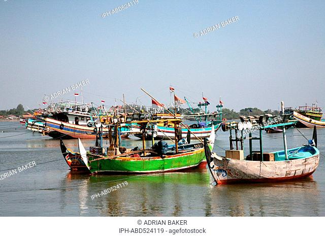 Indonesia Central Java Jepara Fishing boats