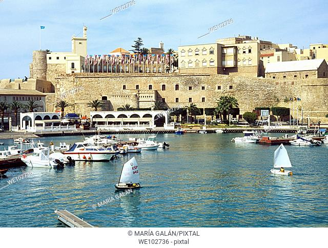 Harbour and old town. Melilla, Spain