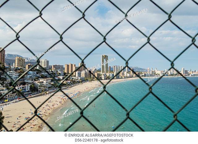 Poniente beach, Benidorm, Alicante province, Spain