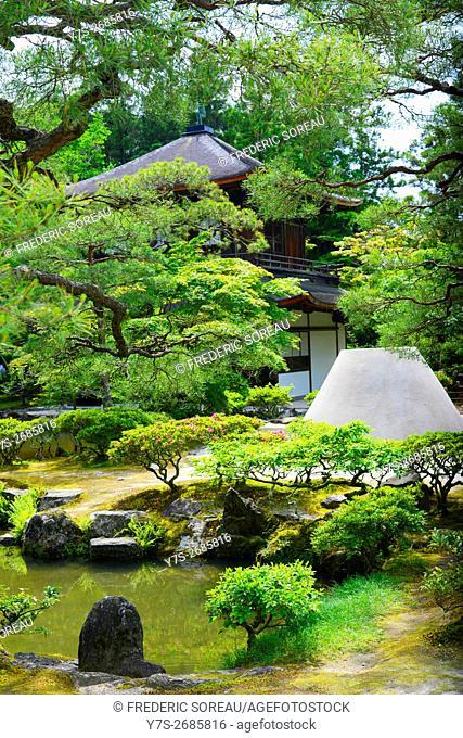 Ginkaku-ji temple or Silver Pavilion in Kyoto, Japan