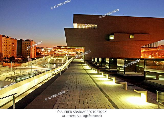 DHUB building, Design Museum, 2013, arch. Martorell, Bohigas and Mackay, Barcelona, Plaça de les Glories, Catalonia, Spain