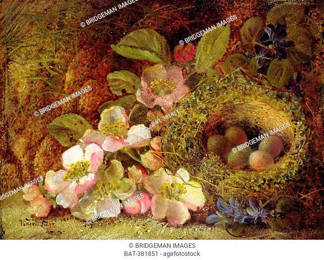 Springtime (oil on canvas), Clare, Vincent (c.1855-1930) / Private Collection / Bridgeman Images