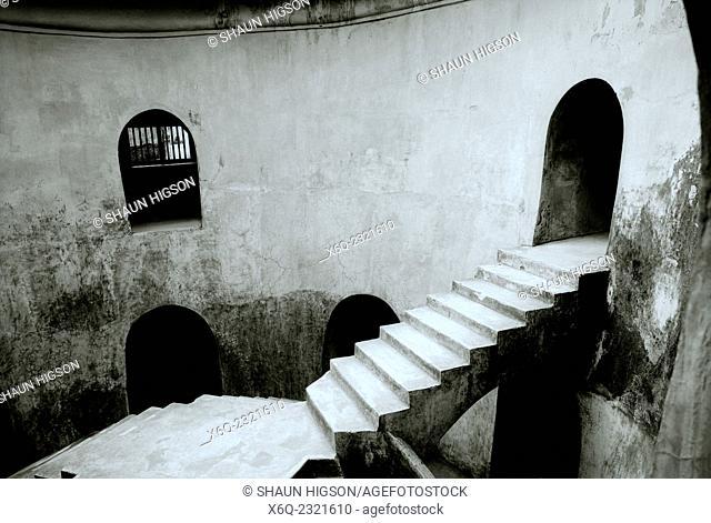 The Underground Mosque, Sumur Gumuling, is part of the Taman Sari complex in Yogyakarta in Indonesia
