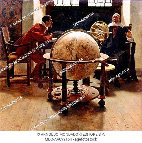 Galileo and Viviani (Galileo e Viviani), by Tito Lessi, 1892, 19th Century