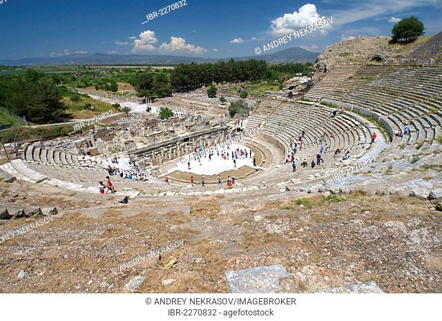 Roman theater, antique city of Ephesus, Efes, Turkey, Western Asia