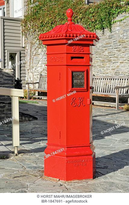 Historic letter box, Buckingham Street, Arrowtown, South Island, New Zealand