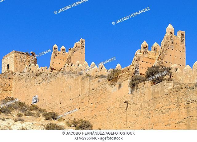 Muslim Alcazaba. Almería. Andalusia. Spain