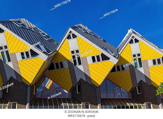 Yellow cubic houses - Rotterdam Netherlands