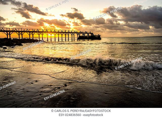 Sunrise in Lanzarote, Canary Islands, Spain