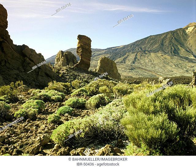 Tenerife Canary Islands Canaries Spain Les Roques Parque Nacional de Las Canadas del Teide