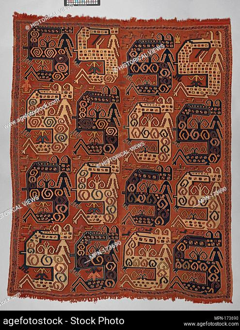 Dragon Carpet. Object Name: Carpet; Date: late 18th-early 19th century; Geography: Attributed to Caucasus; Medium: Wool, cotton; plain weave with...