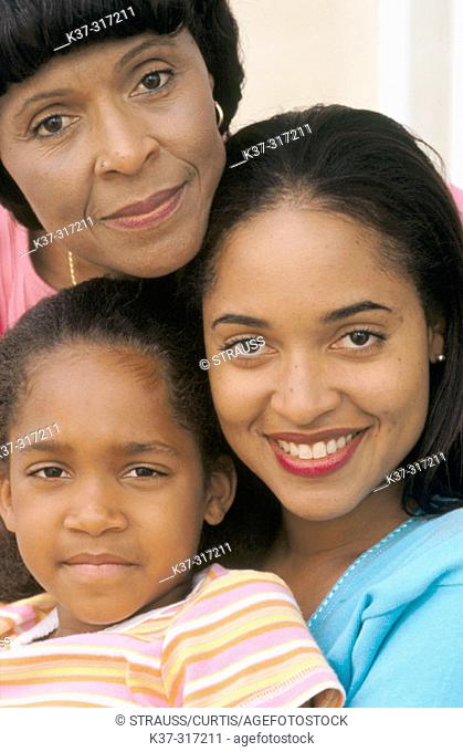 Three generations, female, African-American