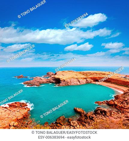 Cabo de Palos beach near Manga Mar Menor Murcia at Spain