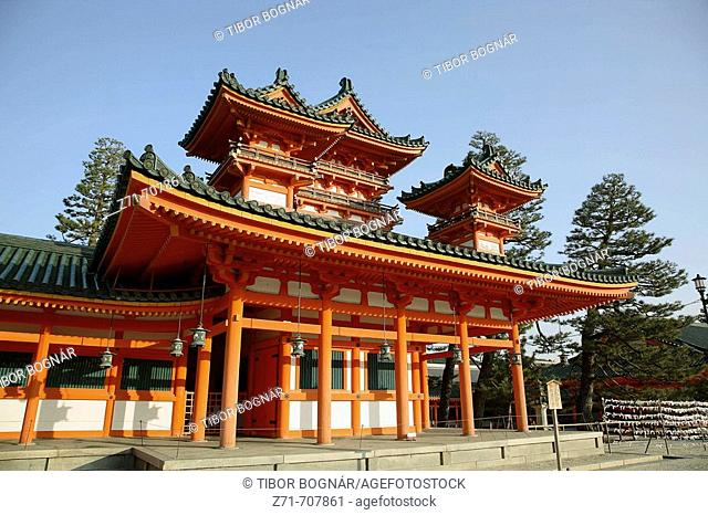Japan, Kansai, Kyoto, Heian Shinto Shrine