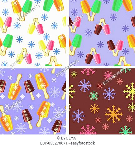 options for the background with the image of ice cream