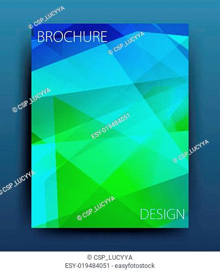 Vector business brochure flyer template or corporate banner design