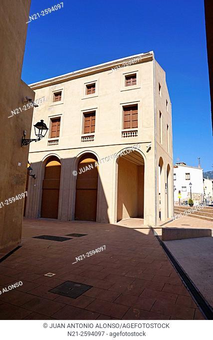 Espai de Can Rius -the former 19th century luxurious spa of Can Rius. Caldes de Montbui, Barcelona, Catalonia, Spain
