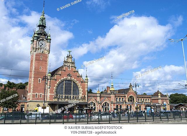 Railway station, Glowny Gdansk, Gdansk, Poland