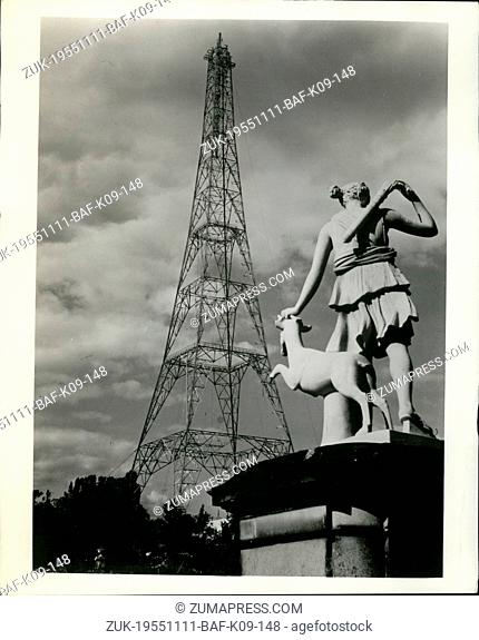 Nov. 11, 1955 - Reservoir Of TV Power: A reservoir had to be drained for erection of a temporary mast for the British Broadcasting Corporation's new TV station...