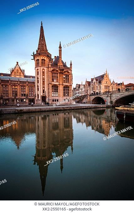 Pakhuis bridge at dusk, Ghent, Belgium