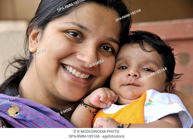 Indian mother and child mr 364 Stock Photos and Images | age fotostock