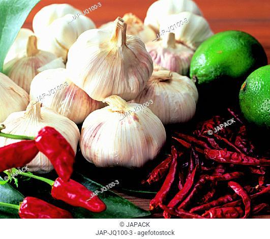 Garlic and chillies