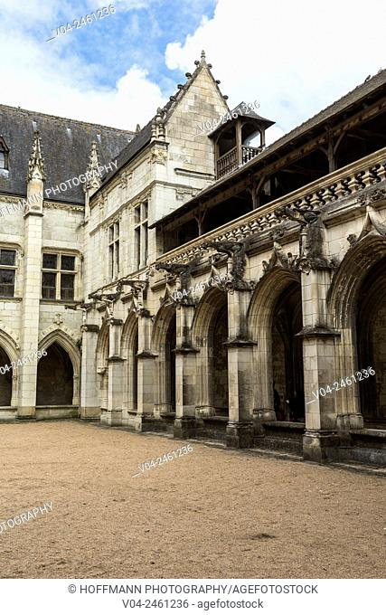The impressive Saint Gatien's Cathedral in Tours, Indre-et-Loire, France, Europe