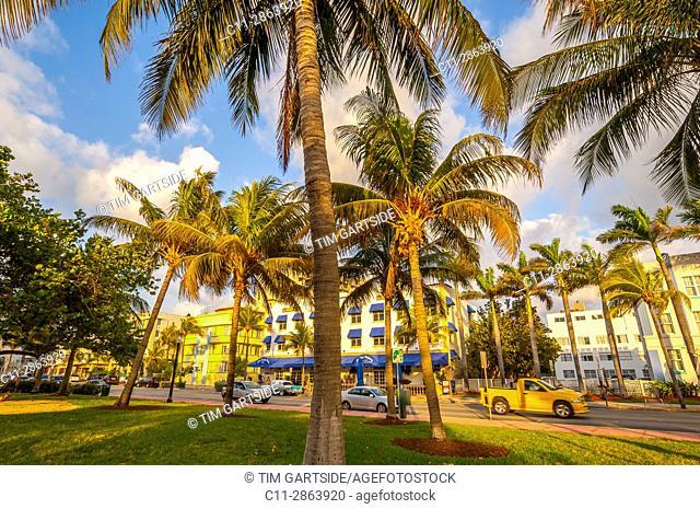 south beach; miami; florida; usa; america;