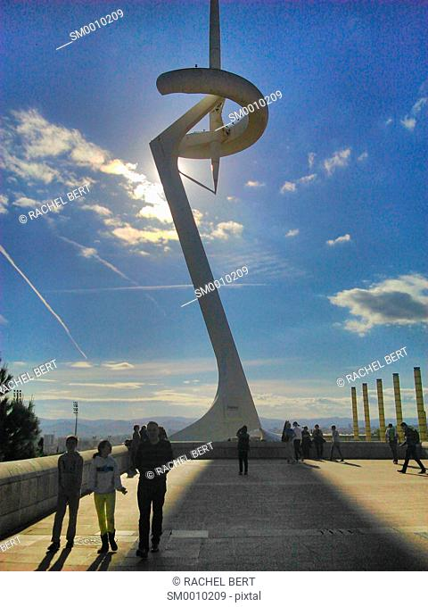 Torre de Calatrava the Olympic Tower in Barcelona Catalonia