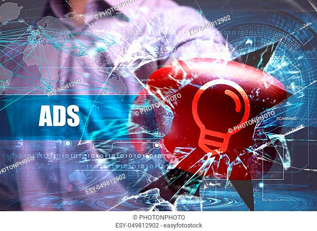 Business, Technology, Internet and marketing. ADS