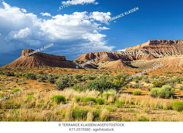 Landscape features of the Canyonlands of rural Utah, USA