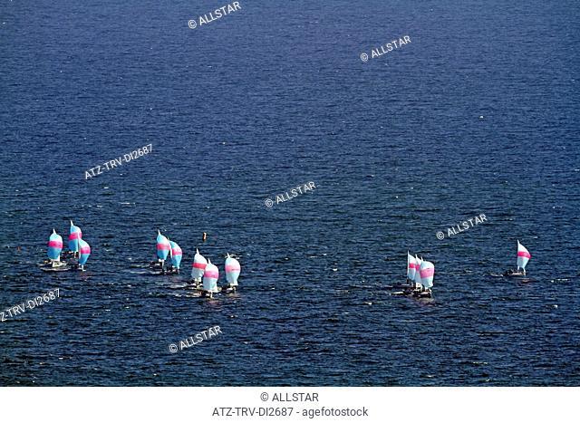 RACING YACHTS IN NORTH SEA; SCARBOROUGH, NORTH YORKSHIRE, ENGLAND; 26/05/2012