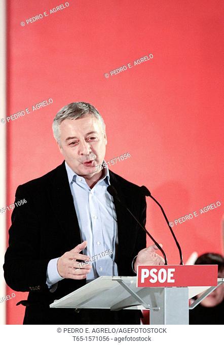 Jose Blanco during a PSOE political meeting, Lugo, 31/10/2011