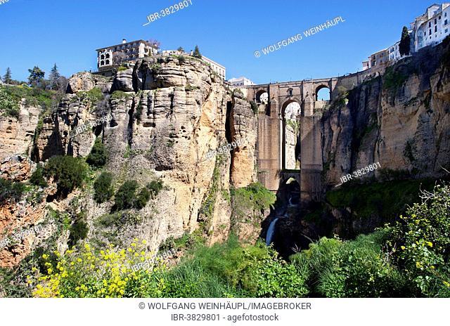 Puente Nuevo, historic centre, Ronda, Province of Malaga, Andalusia, Spain