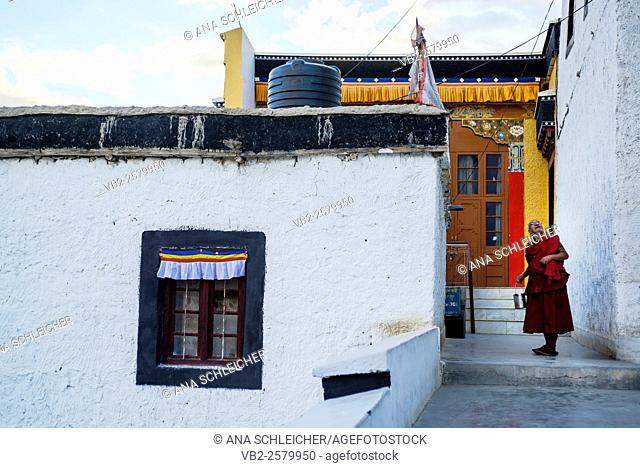 Buddhist nun in Thicksay gompa, Ladakh, India