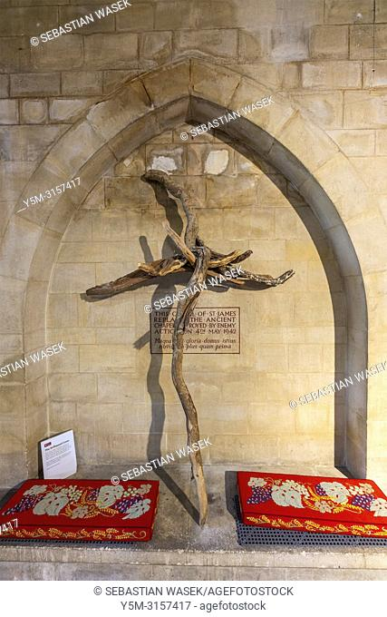 Inside the Cathedral Church of Saint Peter at Exeter, Devon, England, United KIngdom, Europe