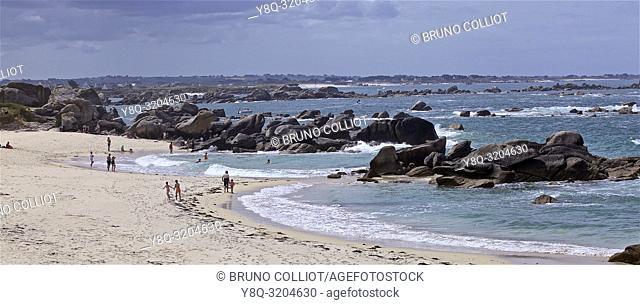 coastal landscape of Meneham, Finistere, Brittany, France
