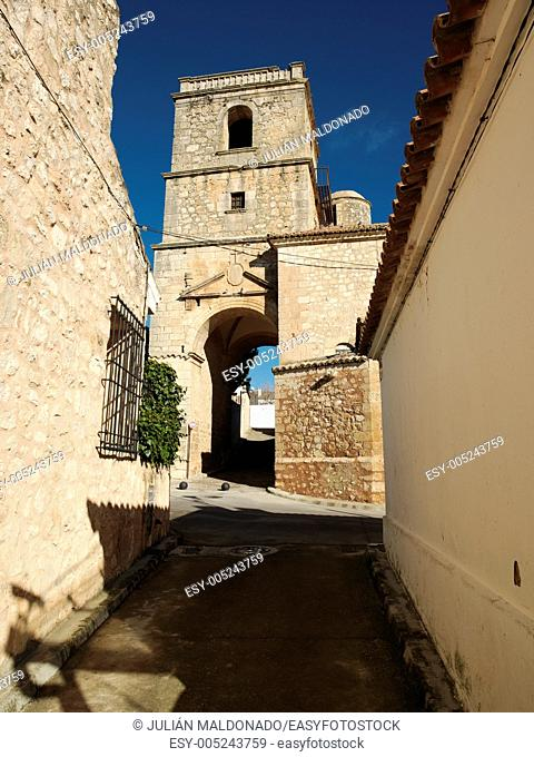 Trinity Church in Gothic style Alarcón, Cuenca, Castilla La Mancha, Spain