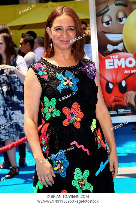 Celebrities attend The World Premiere of 'The Emoji Movie' at Regency Village Theatre in Westwood Featuring: Maya Rudolph Where: Los Angeles, California