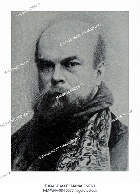 Photographic portrait of Paul Verlaine (1844-1896) a French poet. Dated 19th Century
