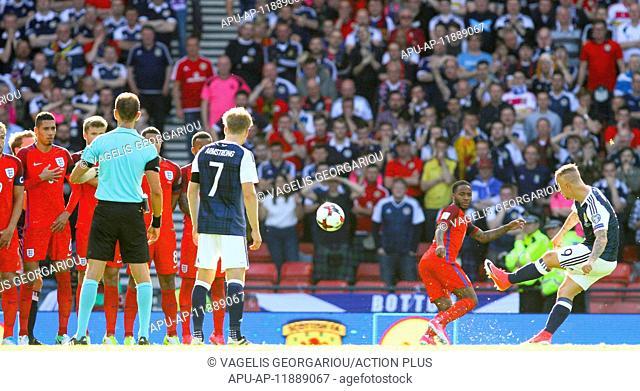 2017 World Cup 2018 Qualifier Scotland v England Jun 10th. June 10th 2017, Hampden park, Glasgow, Scotland; World Cup 2018 Qualifying football