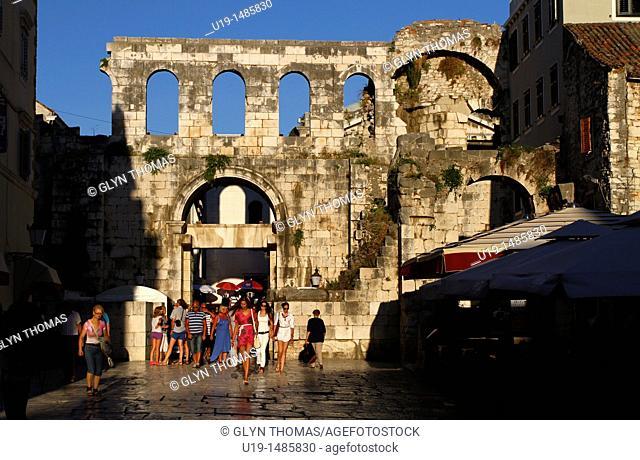 Silver east gate - Porta argentea - Diocletian's Palace, Split, Croatia