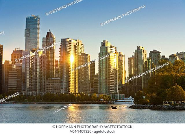 Skyline of downtown Vancouver, British Columbia, Canada