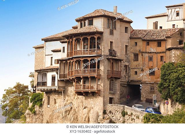Las Casas Colgadas, or The Hanging Houses, which now house the Museum of Spanish Abstract Art  Cuenca, Cuenca province, Castilla-La Mancha