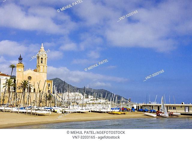Santa Tecla church - Sitges, Spain